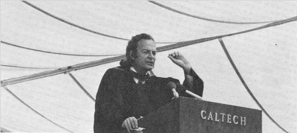 سخنرانی فاینمن در مراسم فارغالتحصیلی دانشگاه کلتک ۱۹۷۴