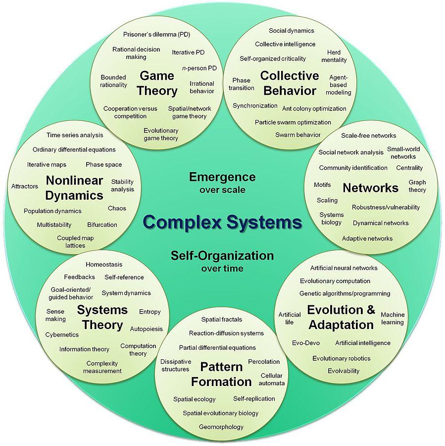 «سیستمهای پیچیده» یکی از گرایشهای جدید فیزیک است جزو علوم بینرشتهای حساب میشود.